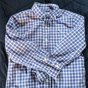 Boy's VV Checked Button Down - Red/Blue/White